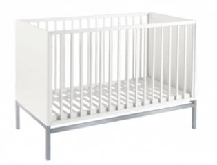 Lit bébé évolutif Stretto chromé