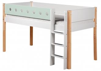 Lit mezzanine évolutif mi-hauteur White 90x190