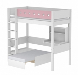 Lit mezzanine évolutif Casa White 90x200