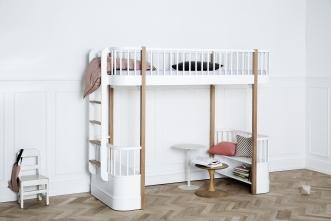 Lit Mezzanine évolutif Wood + échelle côté