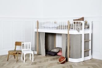 Lit mezzanine mi-hauteur évolutif Wood