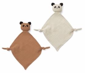 Mini doudou Yoko Panda - Lot de 2