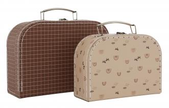 Mini valise Rainbow & Grid Lot de 2
