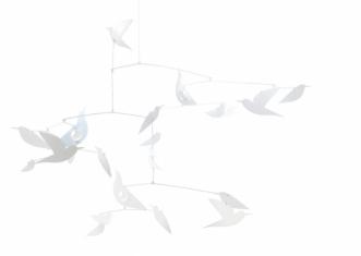 Mobile Des oiseaux blancs