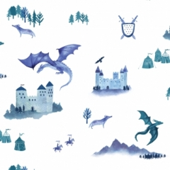 Papier Peint Castles and Dragons