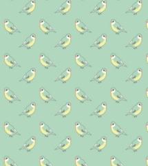 Papier Peint Oiseaux Bleu Menthe