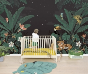 Papier Peint Décor mural Jungle Night