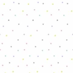 Papier peint Pois multicolores