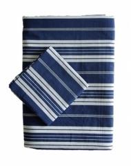Parure de lit 140x200 Large Blue Stripes