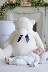 Peluche Jean l'Ours blanc 110cm