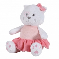 Peluche musicale chaton Mademoiselle