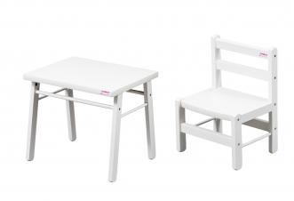 Bureau petite table chaise blanc transparent pour bébé file