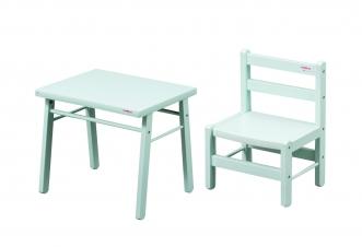 Bureau petite table chaise vert pour bébé file dans ta chambre