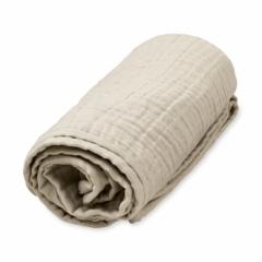 Plaid 100x100 mousseline de coton