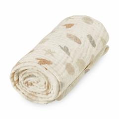 Plaid 100x100 mousseline de coton Seabed