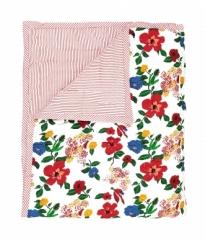Plaid quilté 115x140 Hibiscus