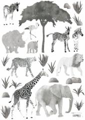 Planche de Stickers Animaux sauvages