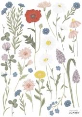 Planche de stickers Fleurs bleuet