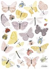 Planche de stickers Papillons et insectes