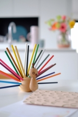 Range crayons Peacock le Paon