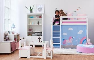 Rideau de lit mezzanine mi-hauteur Licorne Basic 70x160
