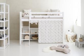 Rideau de lit mezzanine mi-hauteur Pets 90x200