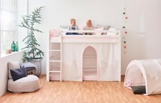 Rideau de lit mezzanine mi-hauteur Winter Wonderland 90x200