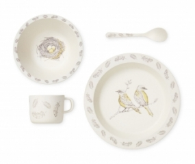 Set de vaisselle Bambou Bird Theme