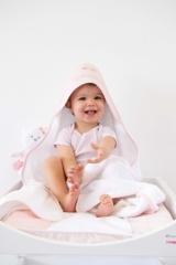 Sortie de bain éponge Mademoiselle 0-2ans