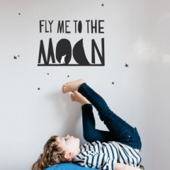 Sticker Fly me on the moon