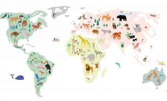 Sticker Giant World Map