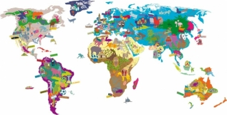 Sticker jeu Map'monde