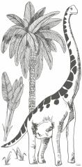 Sticker XL Brontosaure