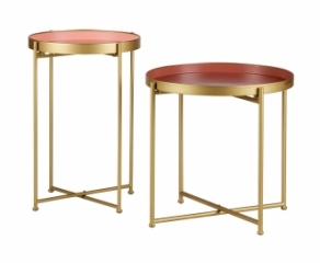 Table d'appoint Round - Lot de 2