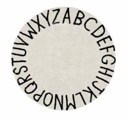 Tapis lavable Rond ABC