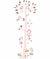 Toise adhésive L'arbre aux oiseaux