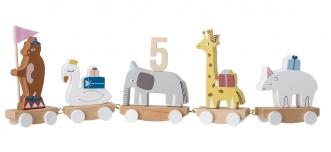 Train d'anniversaire Circus en bois
