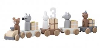 Train d'anniversaire en bois