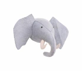 Trophée Eléphant en feutre