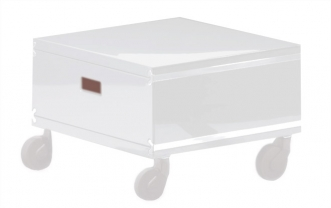 Caissons de rangement pour bureau blanc transparent file dans