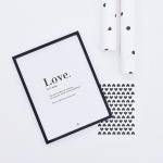 Affiche encadrée Love