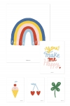 Affiches You make me happy - Lot de 5