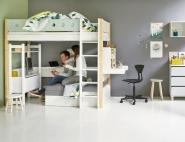 Lit mezzanine évolutif Casa White 90x190