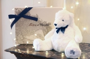 Peluche Jean l'Ours blanc 30cm