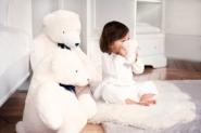Peluche Jean l'Ours blanc 60cm