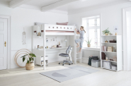 Lit mezzanine évolutif XL White 90x200