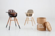 Harnais similicuir pour chaise haute Ovo