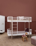 Lit superpos volutif wood oliver furniture blanc naturel file dans ta - Lit superpose evolutif ...