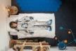 Parure de lit 140x200 Astronaute