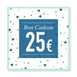 Bon cadeau 25 euros